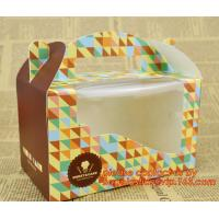 Buy cheap Custom cheap wholesale food grade paper cardboard cake box with handle from wholesalers