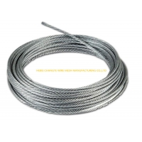Buy cheap 1770 Mpa 6X24+7FC Zinc Coating Galvanized Steel Wire Rope from wholesalers