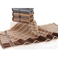 Portable Cotton Bath Towels Stripe With Embroidery Logo DR-BT-03 Manufactures