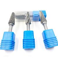 Buy cheap 6.35 Shank Carbide Rotary Tool Bits / Safe Carbide Die Grinder Bit Set from wholesalers