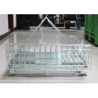 Buy cheap Lockable Steel Q235 Euro Collapsible Wire Container In Logistics from wholesalers