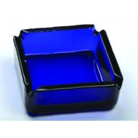Buy cheap Beautiful Square Blue Glass Ashtray Glass Cigar Ashtrays DWAS07 from wholesalers
