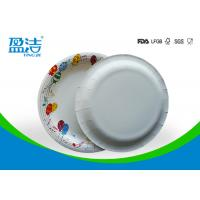 Buy cheap 9 Inch Colored Disposable Paper Plates With Shiny Oil Coated Surface from wholesalers