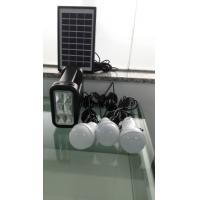 Buy cheap Rechargeable New energy 4W DIY solar home lighting kits with 3 led light for 3 rooms lighting for off-grid area from wholesalers
