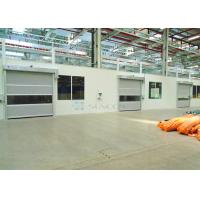 Industrial Transparent Windows Commercial High Speed Door Stainless Steel Frame Manufactures