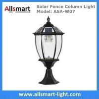 Buy cheap 9 inch Aluminum Solar Fence Column Light Solar Pillar Lamp Traditional Outdoor Post Lights Fence Gate Lamp Black from wholesalers