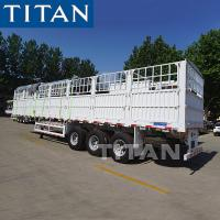 Buy cheap TITAN Stake Semi Trailer Side Loading Animals Transport Cage Semi Trailer from wholesalers
