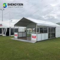 Buy cheap Popular cheap glass wall tent big  aluminum alloy textile fabric party tent festival tent event tent from wholesalers