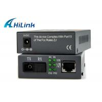 Buy cheap WDM SFP Port Fiber Optic To RJ45 / UTP Media Converter , Compatible Cisco Media Converter from wholesalers