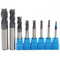 Buy cheap 2-12 mm Carbide Solid End Mills / 4 Flutes Tungsten Carbide Cutter CNC Tools Set from wholesalers