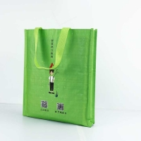 Buy cheap Reusable Polypropylene Woven Bags 29*35cm Breathable Handled Bags Green from wholesalers