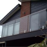 Wholesale New Modern Home Decoration l glass Railing with stainless steel base from china suppliers