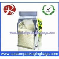 Buy cheap Aluminium Foiled Plastic Food Packaging Bags Zipper Top Rice Side Gussest from wholesalers