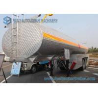 SUS304 Chemical Liquid Oil Tank Trailer 35000L Alcohol Tanker 3 Axles