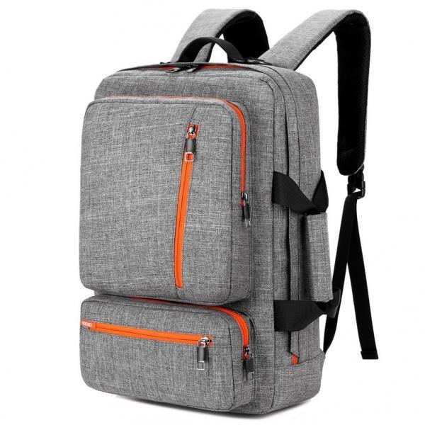 Quality 17 Inch Laptop Tote Bag Grey Color , Travel Laptop Backpack Computer Bag for sale