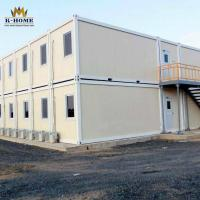 Buy cheap Refugee Apartment Sandwich Panel Container House With Two Bedroom Bathroom And Kitchen from wholesalers