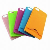 Buy cheap Tough Rugged Credit Card Wallet Case for iPhone 5/5G, Rubber Oil Matte Cases from wholesalers