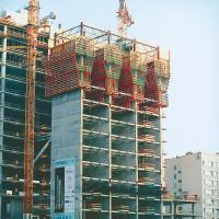 Buy cheap Safe custom scaffolding system self climbing formwork for High rise building from wholesalers
