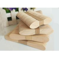 Buy cheap Original Color Short Wooden Ice Cream Spoons 2mm Thickness Environmental Friendly from wholesalers