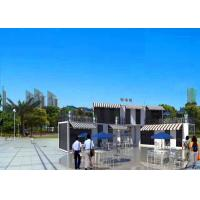 China Two Layers Modern Container House White As Coffee Shop At Business Street on sale