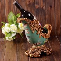 Wholesale resin crafts Retro home decor luxury palace wine rack from china suppliers