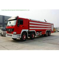 Buy cheap Multi Purpose HOWO 8x4 Fire Pumper Truck With Water Tank 24 Ton For Fire Fighting from wholesalers