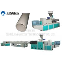 Buy cheap Profile Twin Screw PVC Pipe Extrusion Line, Plastic Tube Making MachineLow Noise from wholesalers