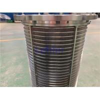 Buy cheap Fine Chemical Filtration Wedge Wire Filter Elements Automatic Self Cleaning product