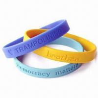 Wholesale Bracelets/Wristbands with 12mm Width and 2mm Thickness, Made of Silicone Material from china suppliers