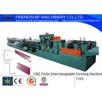 415V C Z Purlin Roll Forming Machine For 80-300mm C&Z Steel Purlin