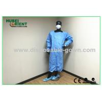Buy cheap Green , Blue Medical Sterile Disposable Surgical Gowns of Knitted Wrist from wholesalers