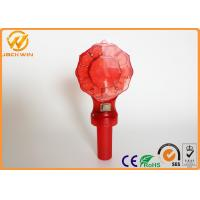 Wholesale D Battery Powered Traffic Warning Lights , led barricade light with handle flash frequency from china suppliers
