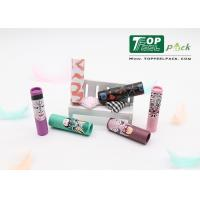 Buy cheap 4g Lipstick Plastic Cosmetic Tubes Plastic Slim Printed Design ISO SGS Approval from wholesalers