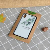 China Art Kraft Paper Packaging / Cell Phone Case Packaging With PVC Window on sale