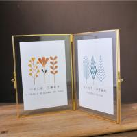 Buy cheap Two-side Opening Copper Glass Photo Frame Home Decoration Picture Frame from wholesalers