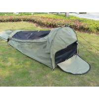Buy cheap Canvas Famliy 2 Man Swag Tent , YKK Zipper Swag Bag Tent With Aluminum Pole from wholesalers