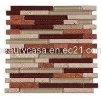 Wholesale Glass Mix Marble Mosaic Glass,Mosaic,Glass Tile 15*98*8mm from china suppliers