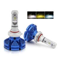 Buy cheap Three Color 9005 Led Replacement Headlight Bulbs / Car H7 H4 Led Headlight Bulb from wholesalers