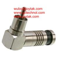 Buy cheap RCA plug right angle Connector Compression Type for 75ohm RG6U RG59U Coax Cable all brass premium quality RCA connector from wholesalers
