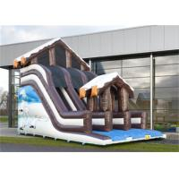 Buy cheap Full Print Commercial Inflatable Slide, Attractive Inflatable Playground Slide With House Design from wholesalers