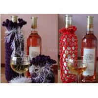 Buy cheap Cotton Thread Knitted Wine Bottle Cover Decoration Crochet Wine Bottle Cozy from wholesalers