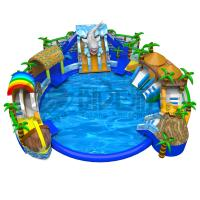 China Indoor & outdoor commercial grade inflatable water pool park on sale