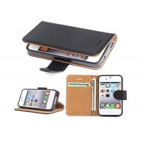 Wholesale Black Slim Apple iphone Leather Case For Apple iPhone 4 4.8*2.7*0.9 Inches from china suppliers