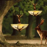 Buy cheap American Vintage Style Resin Antler Chandelier Ceiling Deer Horn Pendant Lights (WH-AC-32) from wholesalers