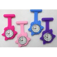 Buy cheap Flower shape Silicone Wristband Watch, spin pocket watch rubber quartz watch from wholesalers