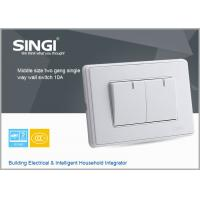 Buy cheap 2016 News design wall switch Hgih quality British wall switch 2 gang single way  wall switch from wholesalers