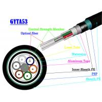 Buy cheap Multimode Fiber Optic Armoured Cable , GYTA53 GYTS53 Direct Buried Fiber Optic Cable from wholesalers