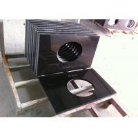 Buy cheap Custom Black Granite Bathroom Vanity Tops / Granite Lavatory Tops product
