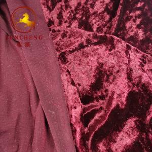 China china factory weft knitted velvet/velour/crush velvet for garment and chair cover on sale