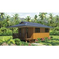 Quality Light Steel Frame wooden design,earthquake proof cyclone proof, Fiji style prefab Bungalow for sale